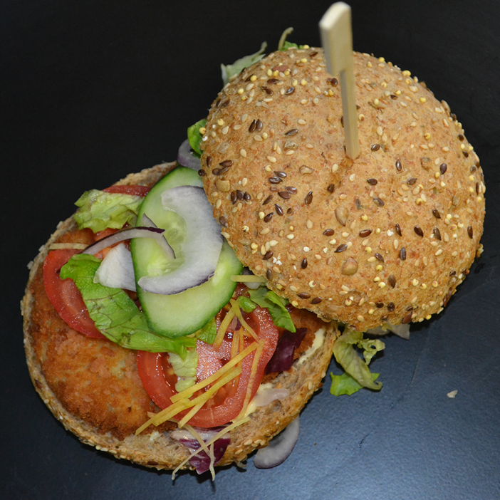 Novish Burger met vegan ravigotte saus